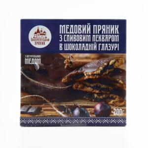 Медовий пряник з лекварем в шоколадній глазурі