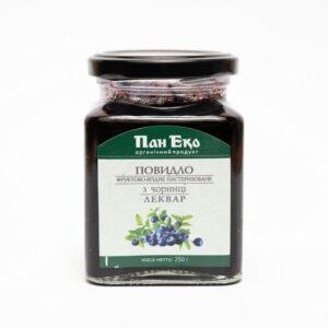 Леквар з чорниці органічний, 250 г